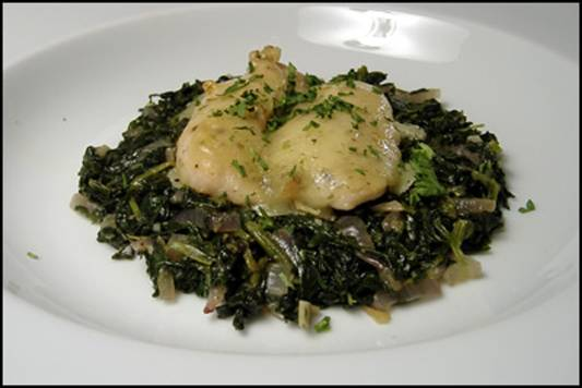 Chicken Tenderloins with Dilled Havarti and Spinach Recipe