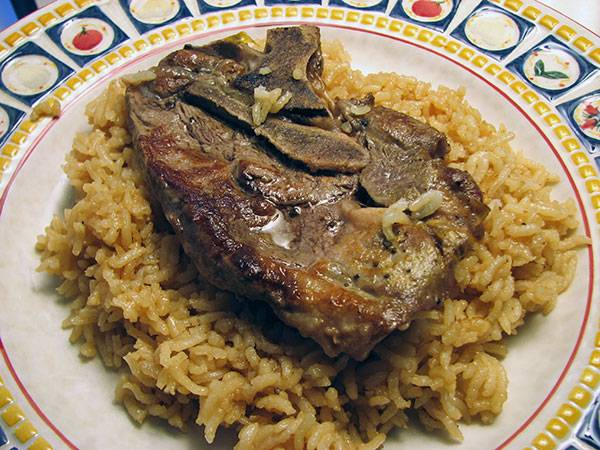 Lamb Chops with Rosemary, UGLI Fruit and Rice Recipe