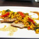 Pan Seared Pork Loin Chops with Corn Chutney Recipe