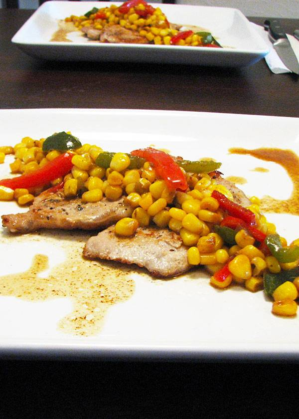 Pan Seared Pork Loin Chops with Corn Chutney Recipe