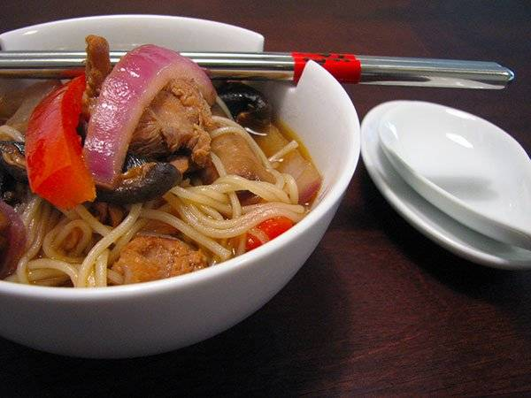 Asian Chicken Soup with Nyumen Noodles Recipe