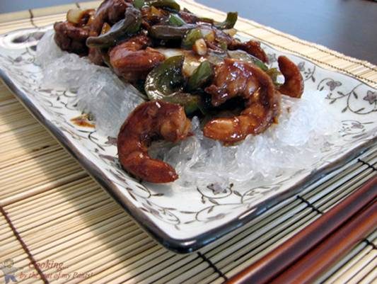 Stir Fried Shrimp with Cellophane Noodles Recipe