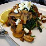 Sauteed Spinach and Mushrooms with Feta Recipe