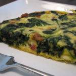 Spinach Bacon and Feta Frittata Recipe