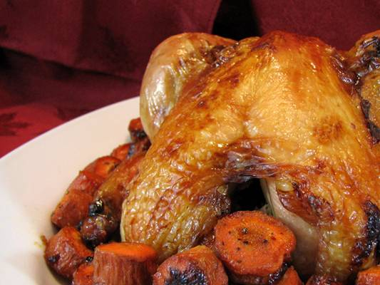 Roast Chicken with Honey-Apricot Glaze Recipe