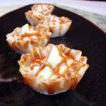 White Chocolate Mousse Tartlets with Caramel Bourbon Vanilla Sauce Recipe