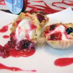 White Chocolate Mousse Tartlets with Cranberry Compote Recipe