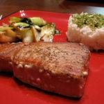 Seared Ahi Tuna with Baby Boc Choy and Seasoned Rice Recipe