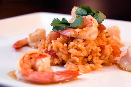 Margarita Shrimp with Spanish Rice Recipe