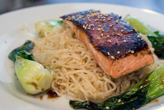 soy-glazed-salmon-with-sesame-noodles-and-bok-choy