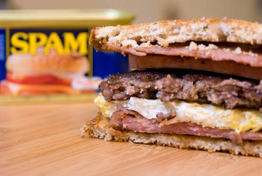The Full Monty Python - Spam Egg Sausage and Spam Sandwich Recipe