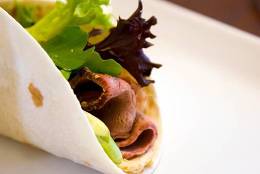 "Roast Beef, Sun Dried Tomato and Basil ""Taco"" Recipe"