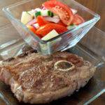 Pan Seared Lamb with Tomato and Cucumber Salad