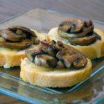 Mushroom and Swiss Cheese Crostini