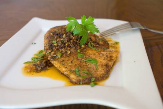 Chili Spiced Tilapia in Garlic Sauce