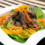 Pork and Pepper Salad with Asian Plum Vinaigrette