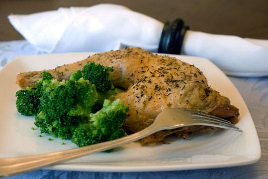 Herb Roasted Chicken Leg Quarters. A deliciously simple recipe for succulent, moist chicken every single time.