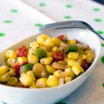 Corn With Peppers and Onions