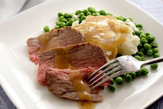 Roast Leg of Lamb with Pan Gravy