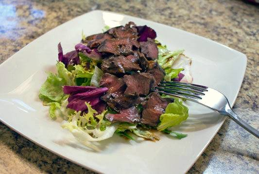 Asian Marinated Grilled Beef Heart Salad