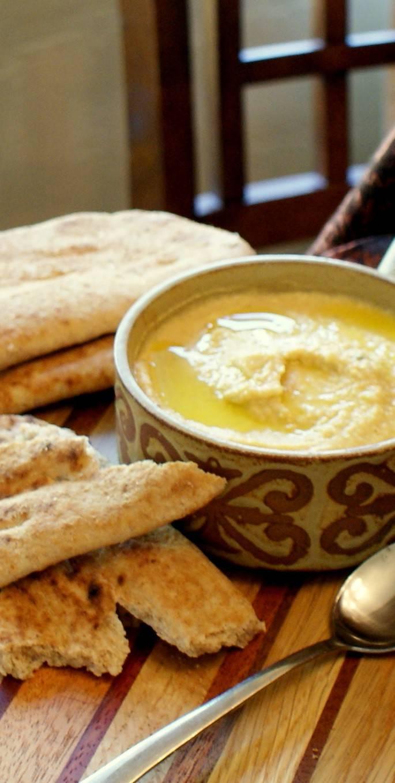 Turkish Style Hummus, from the Adana region of Turkey, this hummus uses no tahini