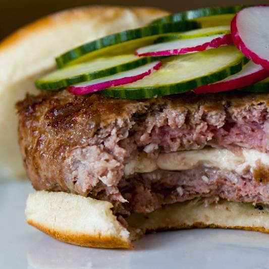 Feta Stuffed Lamb Burgers