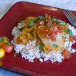 Poached Cod with Sweet Peppers & Tomato – A great light meal for warmer weather