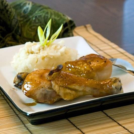 Hoisin Honey Glazed Chicken Recipe with Sesame Mashed Potatoes