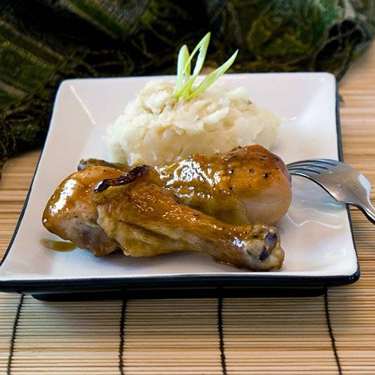 Hoisin Honey Glazed Chicken Recipe with Sesame Mashed Potatoes. American comfort food meets Asian Flavors!