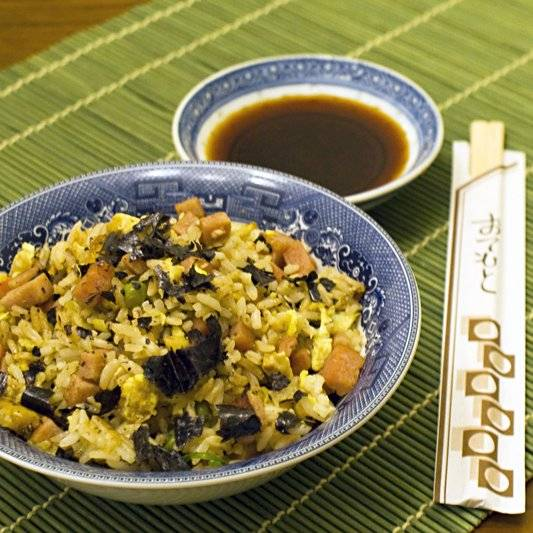 Spam Fried Rice with Nori
