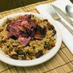 Braised Smoked Ham Shank with Beans and Rice Recipe