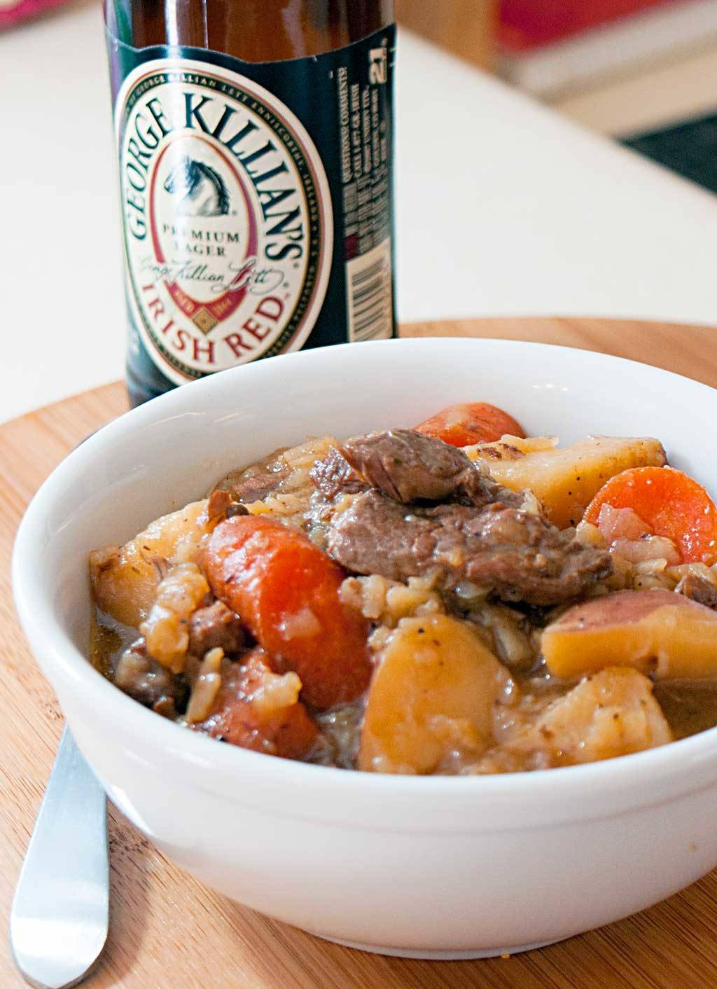 Cowboy Irish Stew – Made with loads of beef and potatoes.