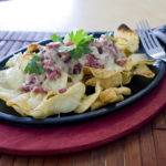 Corned Beef and Potato Nachos – A great way to use up leftover St. Paddy's Day Corned Beef