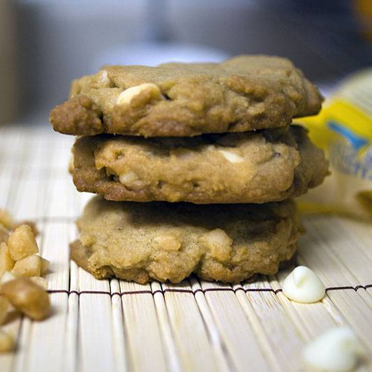 White Chocolate macadamia Nut Cookies. Sweet, sinful, and delicious.