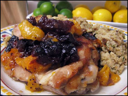Curried Cranberry-Orange Turkey Thighs