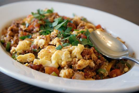 South American Breakfast Scramble. Simple. Fast. Delicious.