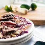 Rainbow Slaw with Steak and Chipotle Crema