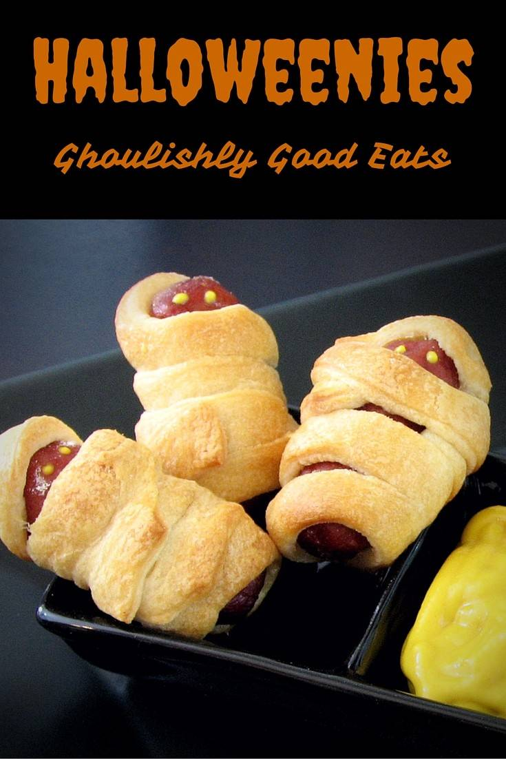 Halloweenies - Mummy Wrapped Sausages for Halloween Dipping