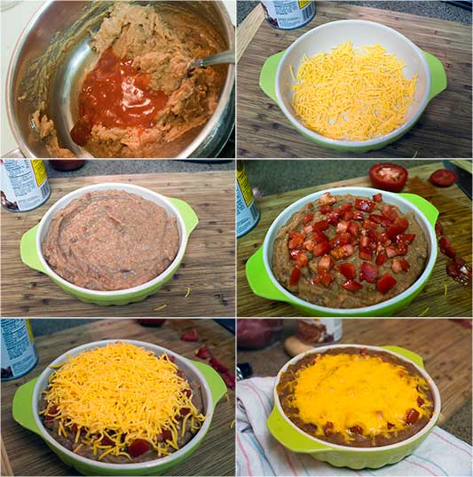 Cheesy-Bean-and-Salsa-Dip-Collage