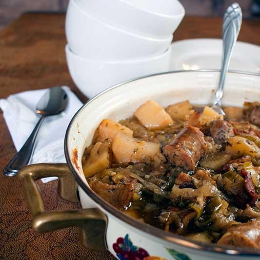 Dublin Coddle (Irish Sausage and Bacon Stew)