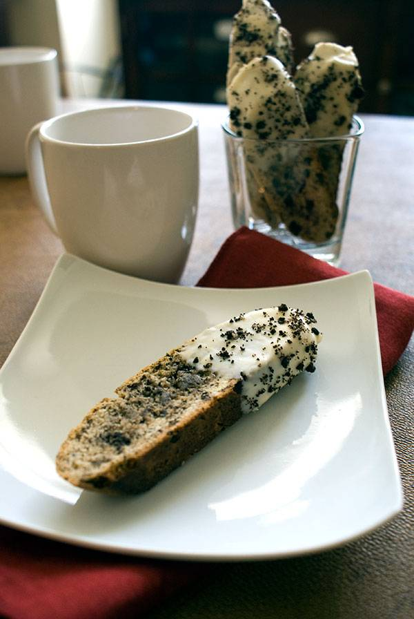 Oreo Biscotti. A cookie made with Cookies!