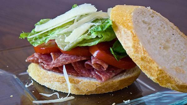 Salami-Sandwich