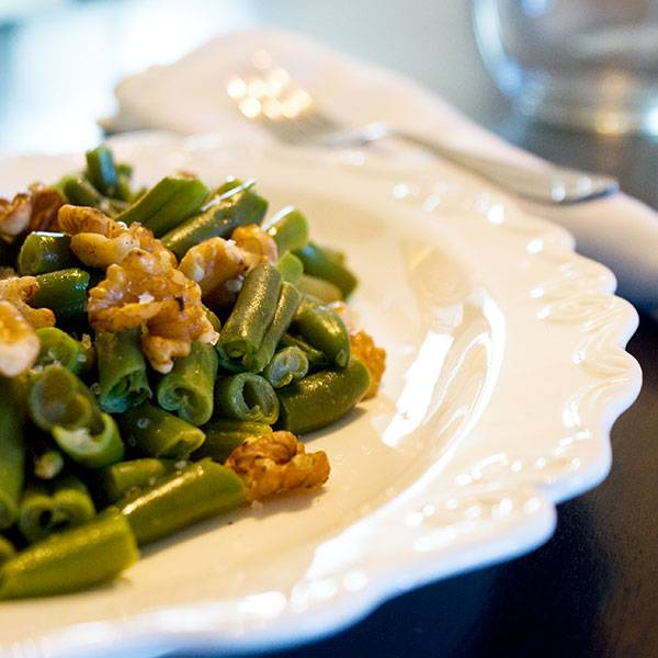 Green Beans with Walnuts – The perfect side to any meal, but is especially festive on a Holiday table.