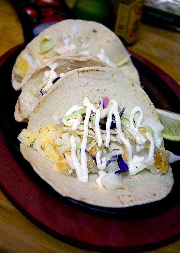 Fish Tacos with Spicy Crema