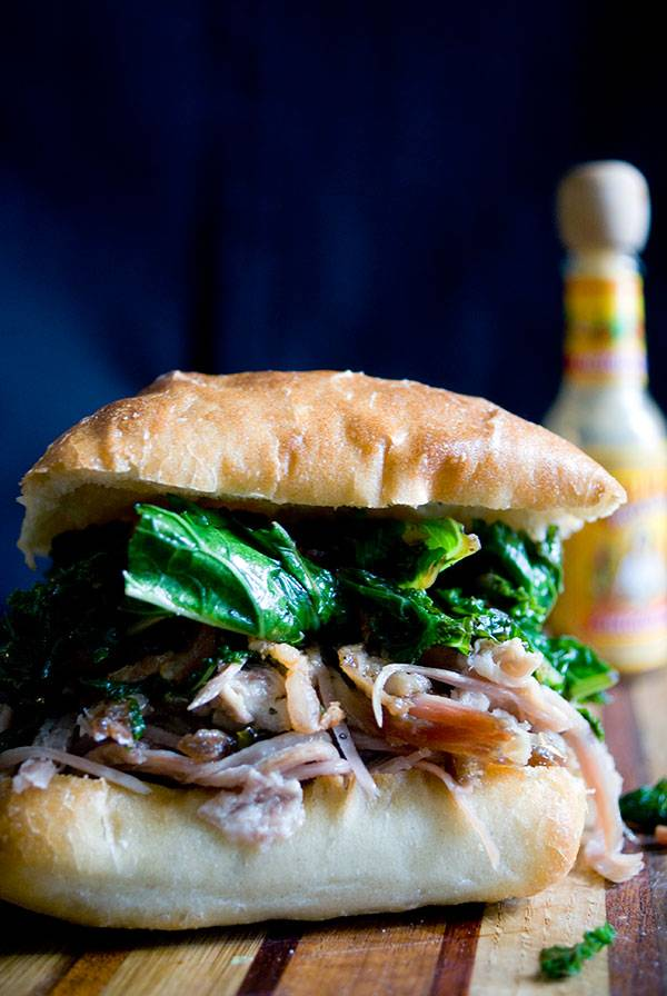 Pulled-Pork-greens-and-bacon-sandwich-tall