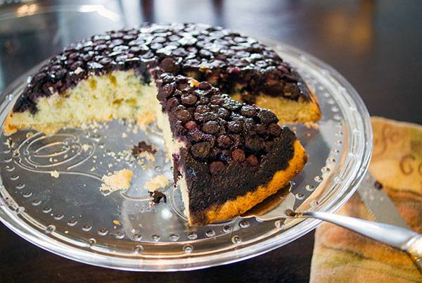 Blueberry Skillet Cake (a Berry-licious Upside-Down Cake)