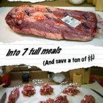 How-To: Turn a Whole Beef Brisket into 7 full meals and save a ton of money
