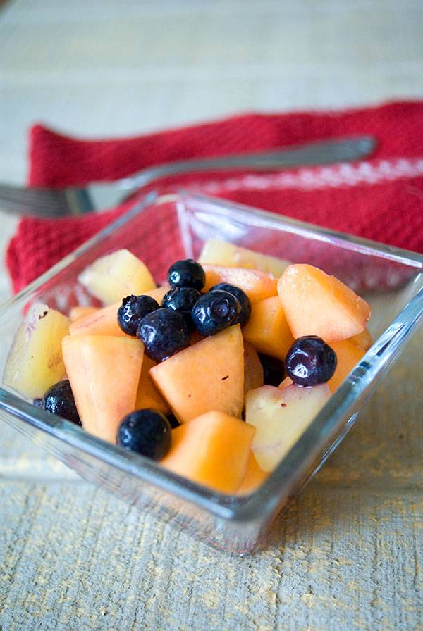 Blueberry, Cantaloupe and Pineapple Salad