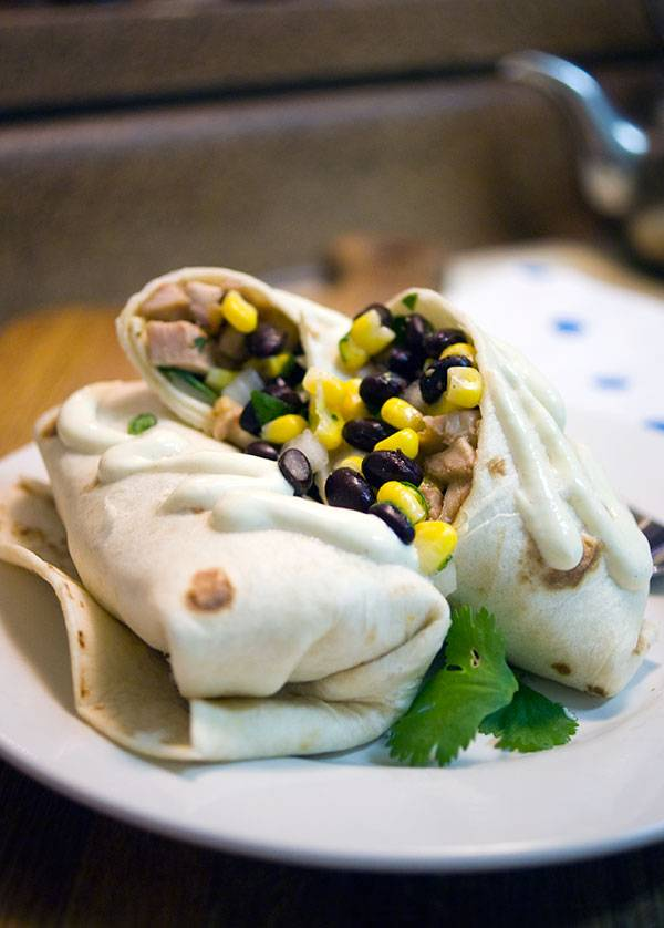 Chicken Soft Tacos with Black Bean and Corn Salsa