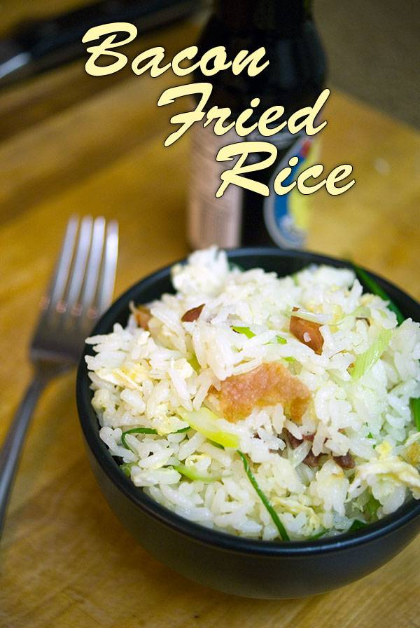 Fried Rice is comfort food at its best. Bacon Fried Rice is better. Much better. Give this simple recipe a try today!